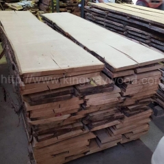 Kingwaywood imports German red oak wood board unedged solid wood raw material furniture 26mmABC wholesale