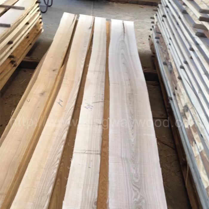 Kingwaywood Industry Europe Imported White Ash Wood Rough Unedged Lumber 30mmab Solid Furniture Board European Style Home Whole