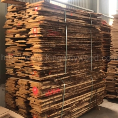 kingwaywood imports wood European white oak raw edge oak board plank solid wood wholesale