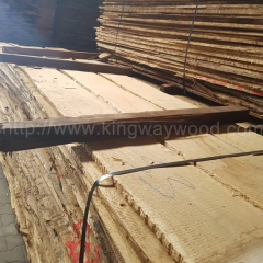 kingwaywood imported European white oak solid wood timber wood plank lumber oak rough unedged board 22/26/32mmabc wholesale